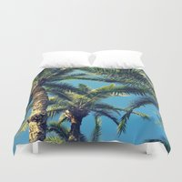 palm tree Duvet Covers featuring Palm Tree by Jillian Stanton