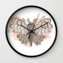 ghost moth Wall Clock