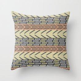Bricks and sticks Throw Pillow