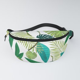 Tropical Green Leaves Fanny Pack