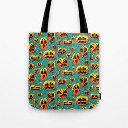 Jack o Lanterns Jackolantern jack o lantern pumpkin pattern spooky creepy fun Tote Bag