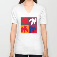 matisse V-neck T-shirts featuring M for Matisse by CHOCOLORS
