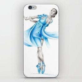 Dancer in blue iPhone Skin