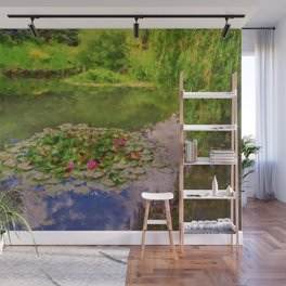 The Water Lily Pond inspired by impressionist  Wall Mural