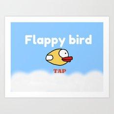 Flappy Bird Art Print