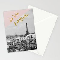La Vie Est Belle Stationery Cards