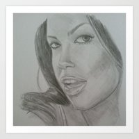 aaliyah Art Prints featuring Aaliyah by ShastaMD