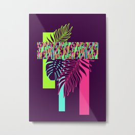 Neon Exotic #society6 #tropical Metal Print