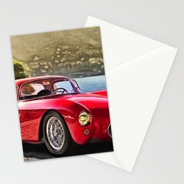 Vintage 1954 Italian Roadster A6GCS Berlinetta Pinin Farina Painting Stationery Cards