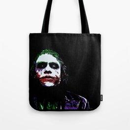 Heath's Joker Pop art Portrait Tote Bag