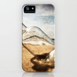 Bottle On Beach II iPhone Case