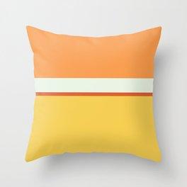 Lines Print Yellow,Orange and White Throw Pillow