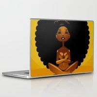 spiritual Laptop & iPad Skins featuring Spiritual AfroGirl by Pweety Sexxay