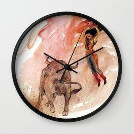 Bullfighter Wall Clock