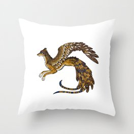 On Wings of Gold Throw Pillow