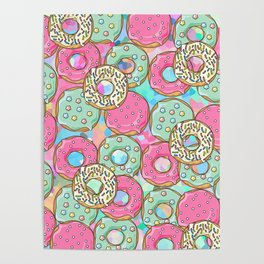 Sweet Donuts Cookies Poster