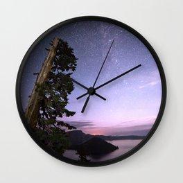Crater Lake Glow Wall Clock