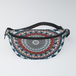 Festive Winter Night Mandala Fanny Pack