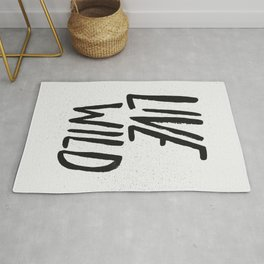 Live Wild Typography Rug