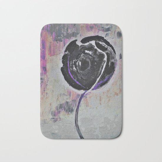 Negro Night Golden Rose Bath Mat