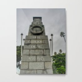 War Memorial Clive Square Napier Metal Print