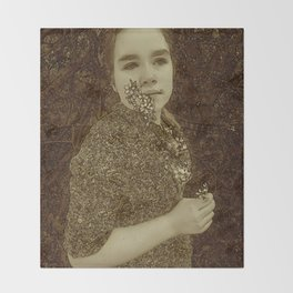Portrait Of My Daughter Rosa Throw Blanket