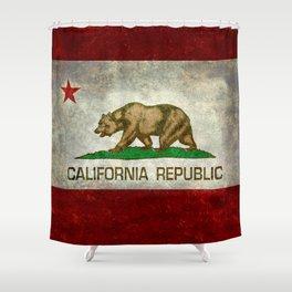 California flag - Retro Style Shower Curtain