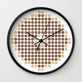 Chocolate Donut Mosaic Wall Clock