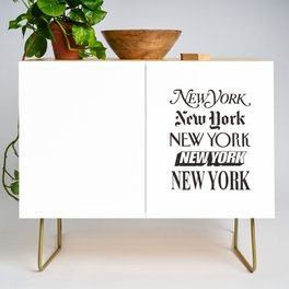 I Heart New York City Black and White New York Poster I Love NYC Design black-white home wall decor Credenza