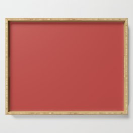 Cheapest Solid Cherry Red Color Serving Tray
