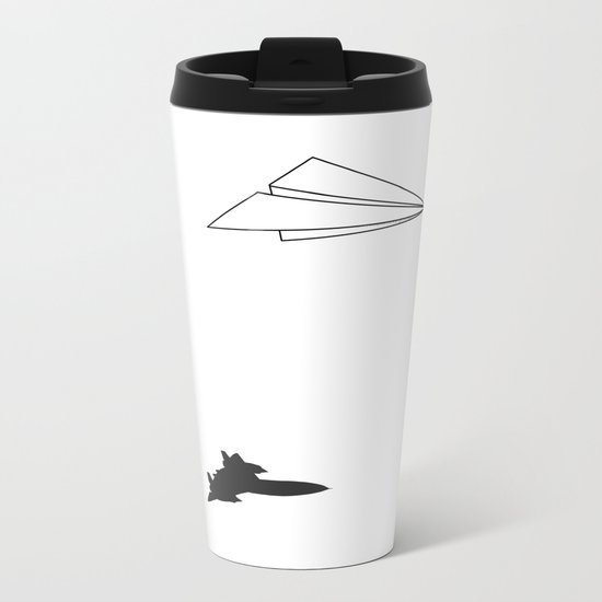 Paper Airplane Dreams Metal Travel Mug