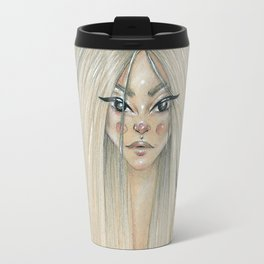 Messy hair dont care Travel Mug