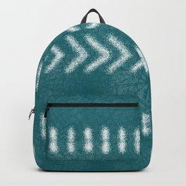 Minimalist Tribal Pattern on Teal Backpack