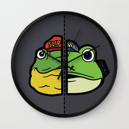 Old & New Slippy Toad Wall Clock