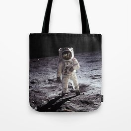 Buzz Aldrin on the Moon Tote Bag
