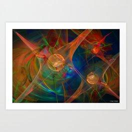 Neuron Network Art Print