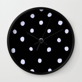 Weisse Punkte 001 Wall Clock