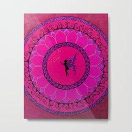 Fairy Garden Pink Metal Print