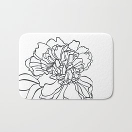 Paper-cut Peony Bath Mat