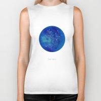constellation Biker Tanks featuring Constellation Sagittarius  by ShaMiLa