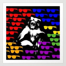 Wild Monkey Sun glass Pattern Art Print