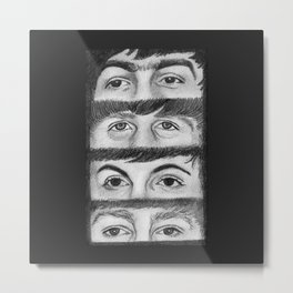 FAB FOUR EYES Metal Print