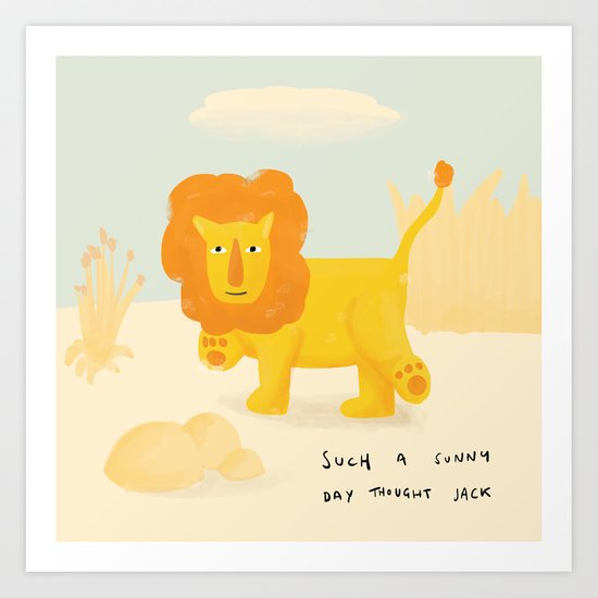 Jack the Lion Art Print