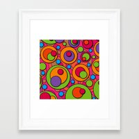 polka dots Framed Art Prints featuring Polka Dots by Shelly Bremmer