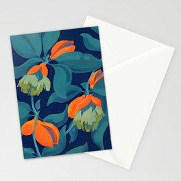 Tropical orange fruit tree Stationery Cards