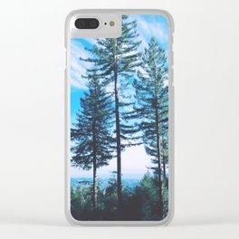 Santa Cruz Three Trees Mountains Clear iPhone Case