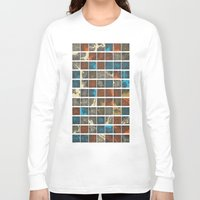 world maps Long Sleeve T-shirts featuring World Cities Maps by Map Map Maps