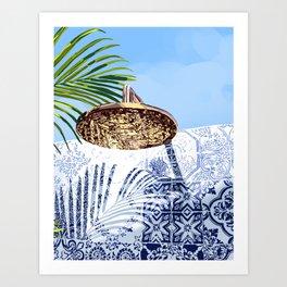 Tropical Shower Art Print