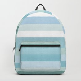 Color Block Stripe in Mint Blue Backpack