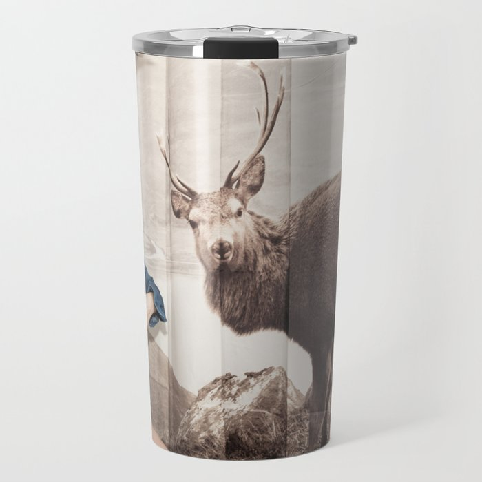 Christmas reigns Triumphant Not only in The mind of a Reindeer Travel Mug